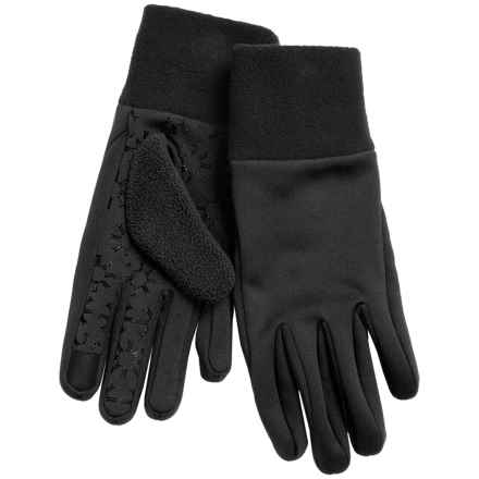 Jacob Ash Igloos Soft Shell Fleece Gloves - Touchscreen Compatible (For Women) in Anthracite - Closeouts