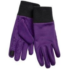 Jacob Ash Igloos Soft Shell Fleece Gloves - Touchscreen Compatible (For Women) in Blackberry - Closeouts