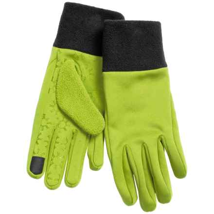 Jacob Ash Igloos Soft Shell Fleece Gloves - Touchscreen Compatible (For Women) in Macaw - Closeouts