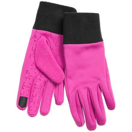 Jacob Ash Igloos Soft Shell Fleece Gloves - Touchscreen Compatible (For Women) in Magenta - Closeouts