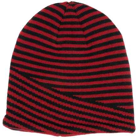 Jacob Ash Igloos Striped Beanie - Fleece Lined (For Little and Big Kids) in Red - Closeouts