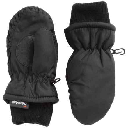 Jacob Ash Igloos Taslon Ski Mittens - Waterproof, Insulated (For Toddlers) in Black - Closeouts