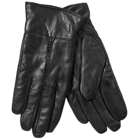Jacob Ash Leather Gloves (For Women) in Black