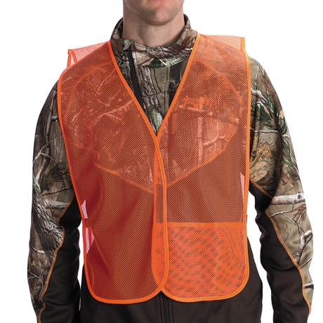 Jacob Ash Mesh Safety Vest - Touch-Fasten Closure in Blaze Orange