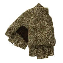 Jacob Ash Pop-Top Gloves - Insulated Ragg Wool (For Men) in Green Camo - Closeouts
