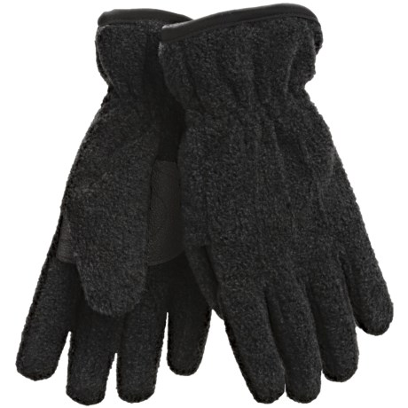 Jacob Ash Puffin Down Fleece Gloves - Waterproof, Insulated (For Boys and Girls) in Black