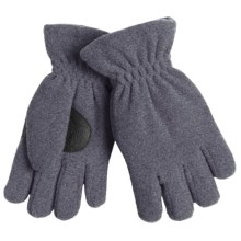 Jacob Ash Puffin Down Fleece Gloves - Waterproof, Insulated (For Boys and Girls) in Heather Grey - Closeouts