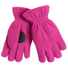 Jacob Ash Puffin Down Fleece Gloves - Waterproof, Insulated (For Boys and Girls) in Magenta - Closeouts