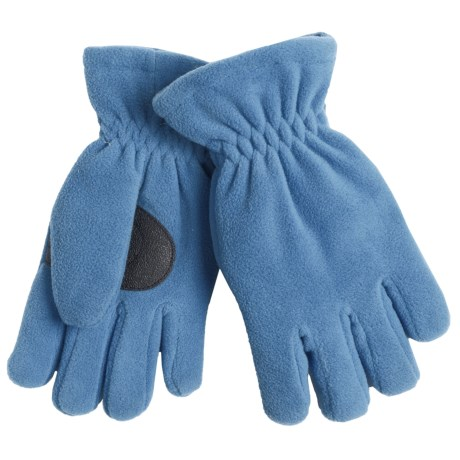 Jacob Ash Puffin Down Fleece Gloves - Waterproof, Insulated (For Boys and Girls) in Parisian Blue