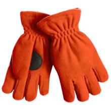 Jacob Ash Puffin Down Fleece Gloves - Waterproof, Insulated (For Boys and Girls) in Tangerine - Closeouts