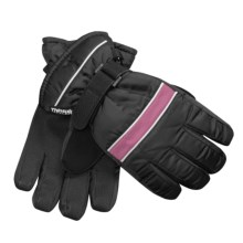 Jacob Ash Waterproof Ski Gloves - Insulated (For Little and Big Kids) in Black/Pink - Closeouts