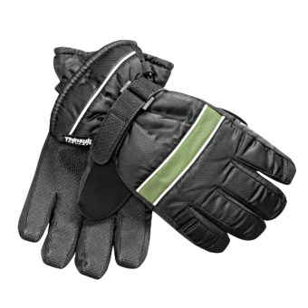 Jacob Ash Waterproof Ski Gloves - Insulated (For Youth) in Black/Bright Green