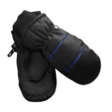 Jacob Ash Waterproof Ski Mittens - Insulated (For Kids) in Black / Royal - Closeouts