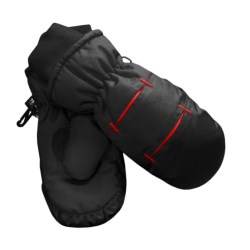Jacob Ash Waterproof Ski Mittens - Insulated (For Little and Big Kids) in Black/Red