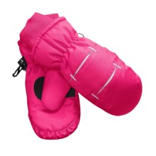Jacob Ash Waterproof Ski Mittens - Insulated (For Little and Big Kids) in Pink / White - Closeouts