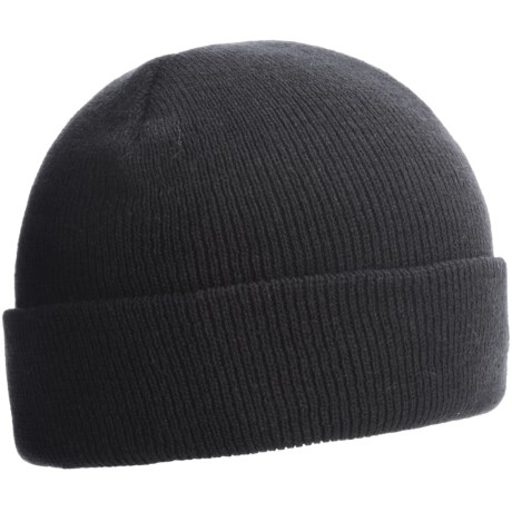 Jacob Ash Weather Beaters Beanie Hat - Two-Ply Knit (For Men) in Black