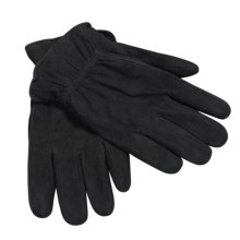 Jacob Ash Weather Beaters Deerskin Suede Gloves - Insulated (For Men) in Black - Closeouts