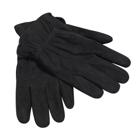 Jacob Ash Weather Beaters Deerskin Suede Gloves - Insulated (For Men) in Black