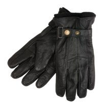 Jacob Ash Weather Beaters Gloves - Leather, Fleece Liner (For Men) in Black - Closeouts