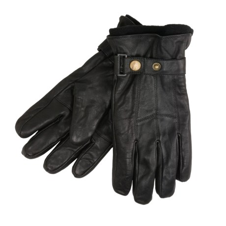 Jacob Ash Weather Beaters Gloves - Leather, Fleece Liner (For Men) in Black
