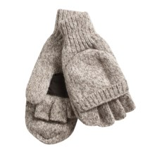 Jacob Ash Weather Beaters Ragg Wool Gloves - Convertible Pop Top (For Women) in Oatmeal - Closeouts
