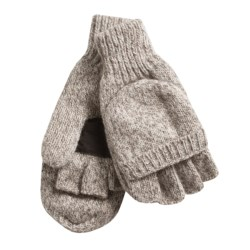 Jacob Ash Weather Beaters Ragg Wool Gloves - Convertible Pop Top (For Women) in Oatmeal