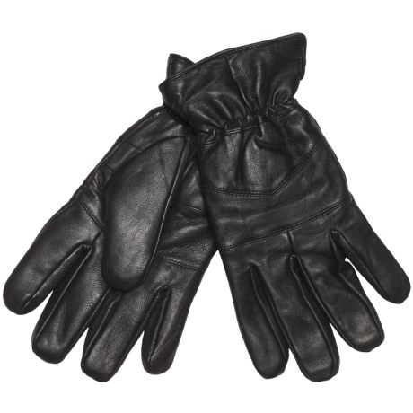 Jacob Ash Weather Beaters Traditional Gloves - Leather (For Men) in Black