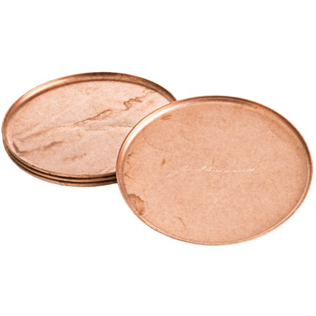 Jacob Bromwell Copper Coasters - Set of 4 in Copper