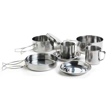 Jacob Bromwell Stainless Steel Camping Cookware Set in Stainless - Closeouts