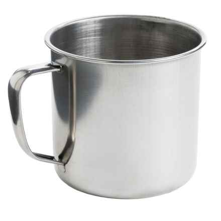 Jacob Bromwell Stainless Steel Camping Mug - Small, 14 fl.oz. in Stainless - Closeouts