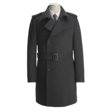 Jacob Siegel Belted Trench Coat - Twill (For Men) in Charcoal - Closeouts