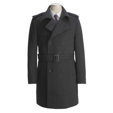 Jacob Siegel Belted Trench Coat - Twill (For Men) in Charcoal