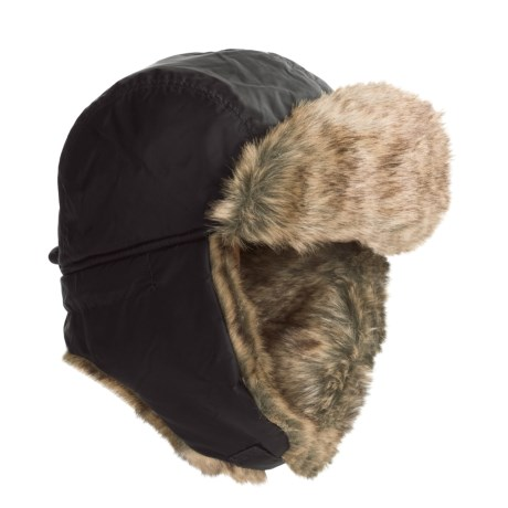 JacobAsh Attaboy Aviator Hat - Faux Fur, Ear Flaps (For Men) in Grey