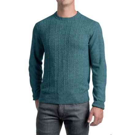Jacquard Crew Neck Sweater - Long Sleeve (For Men) in Acid Blue - 2nds