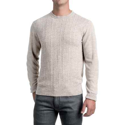 Jacquard Crew Neck Sweater - Long Sleeve (For Men) in Light Grey - 2nds