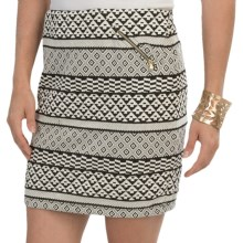 Jacquard Knit Mini Skirt (For Women) in White - 2nds