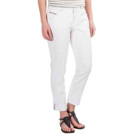 JAG Alex Boyfriend Jeans - Stretch Cotton (For Women) in White - Closeouts