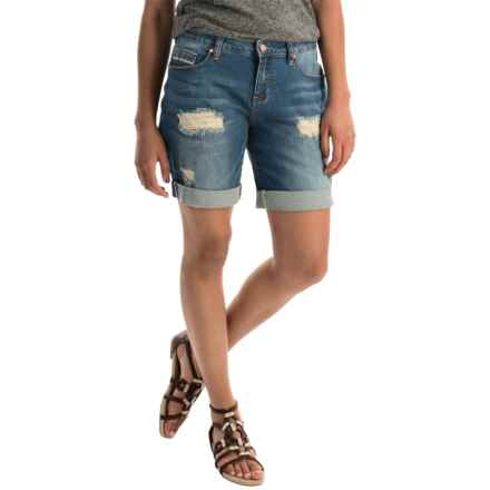 JAG Alex Boyfriend Shorts (For Women) in Blue Carbon - Overstock