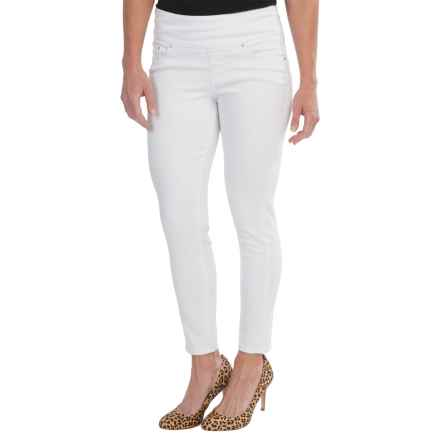 JAG Amelia Pull-On Ankle Jeans - Slim Fit (For Women) in White - Closeouts