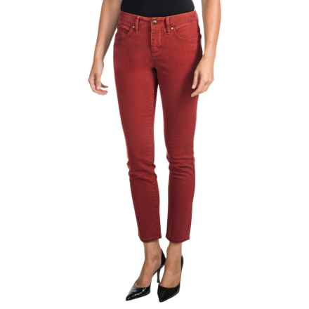 JAG Belden Ankle Jeans - Mid Rise, Slim (For Women) in Rusty Red - Closeouts
