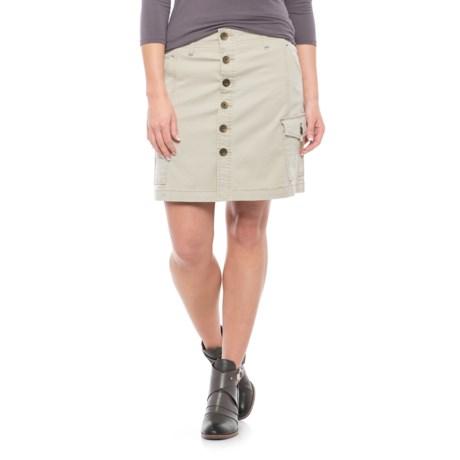 JAG Boardwalk Twill Skirt (For Women) in Stone
