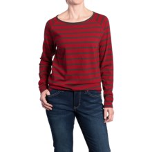 JAG Brier Stripe Shirt - Long Sleeve (For Women) in Hot Tamale - Overstock