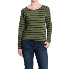 JAG Brier Stripe Shirt - Long Sleeve (For Women) in Olive - Overstock