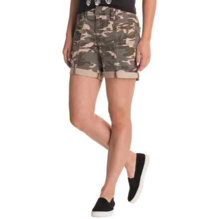 JAG Carmine Camo Twill Shorts - Relaxed Fit (For Women) in Olive - Closeouts