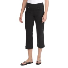 JAG Dahlia Crop Pants - Twill, Comfort Fit, Mid Rise (For Women) in Black - Closeouts