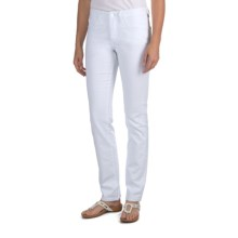 JAG Denim Donovan Jeans - Mid Rise, Straight Leg (For Women) in White - Closeouts