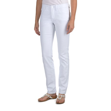JAG Denim Donovan Jeans - Mid Rise, Straight Leg (For Women) in White