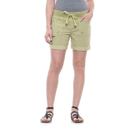 JAG Diana Roll-Up Shorts (For Women) in Kiwi Cutie - Closeouts