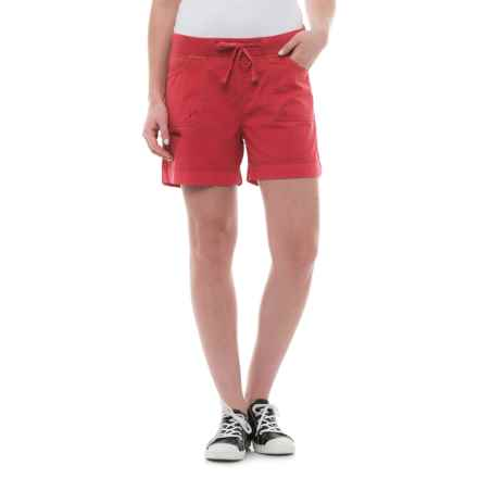 JAG Diana Roll-Up Shorts (For Women) in Parrot Tulip - Closeouts