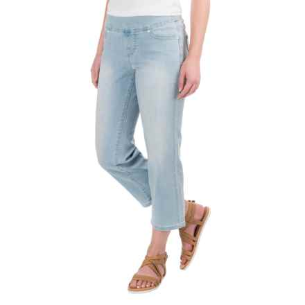 JAG Echo Crop Jeans - Stretch Cotton, Pull-On (For Women) in Light Indigo - Closeouts